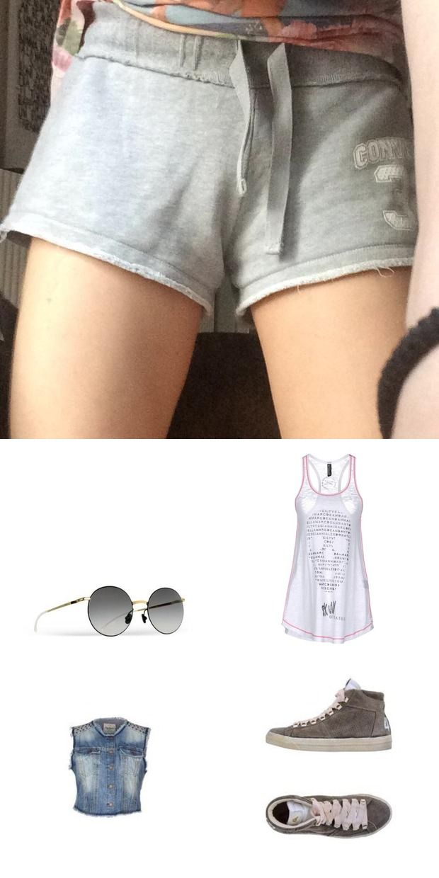 How to wear #converse #shorts for a sporty casual look