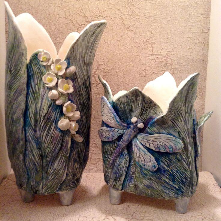 Vases by Irina Pirogova  #ceramics #IrinaPirogova #prostyeludi