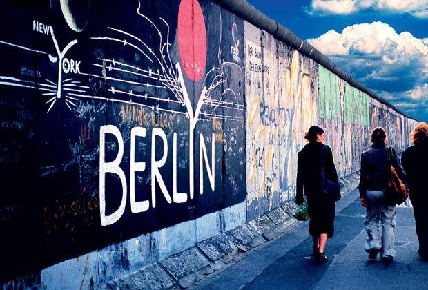 Detalhe do antigo Muro de Berlim (Foto: Jinx Jinx/Getty Images)