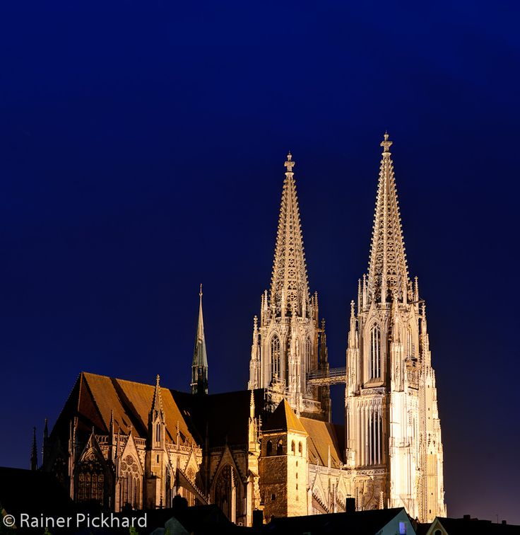 Gothic Cathedral of Saint Peter in Regensburg / Germany