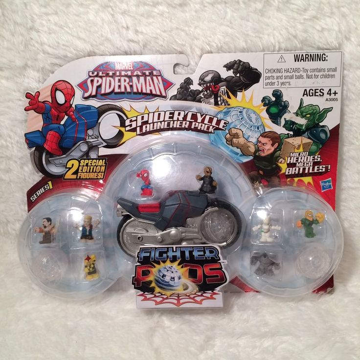 ULTIMATE SPIDERMAN Spider Cycle Launcher Pack MICRO HERO FIGHTER PODS Hasbro NEW 653569816287 | eBay