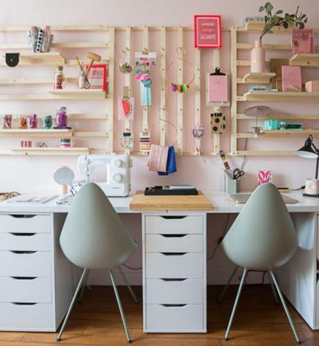 organiser son bureau cr er un rangement mural modulable. Black Bedroom Furniture Sets. Home Design Ideas