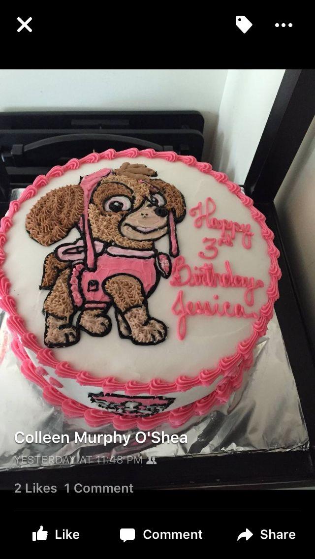 Skye from paw patrol cake