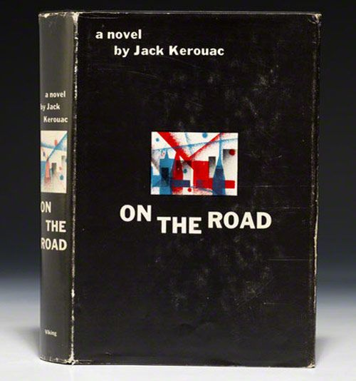 The First Edition Covers of 25 Classic Books: On the Road, by Jack Kerouac. Viking Press, New York, 1957