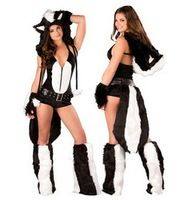 Sexy Animal Costumes for Adults Sexy Fox Costume sexy halloween apparel, women animal Catsuit costumes Dress