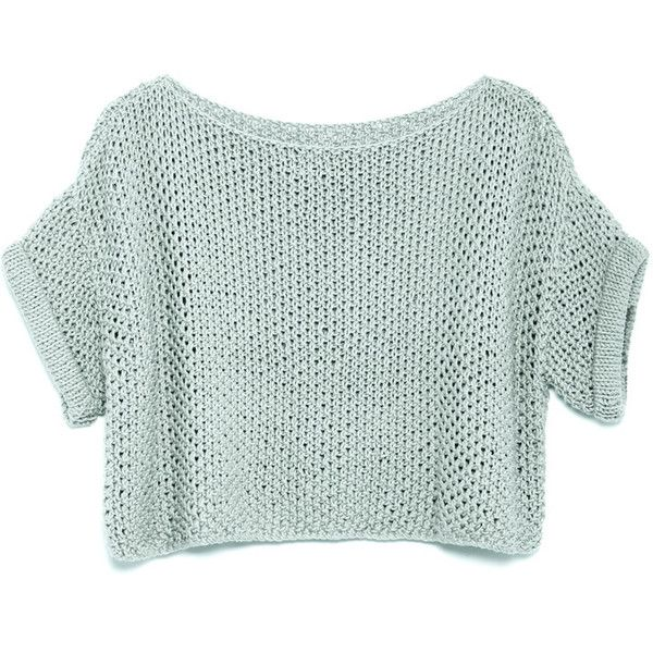 FLORENCE SWEATER (3.155 UYU) ❤ liked on Polyvore featuring tops, sweaters, shirts, crop tops, green top, green shirt, shirt top, green sweater and cropped sweater