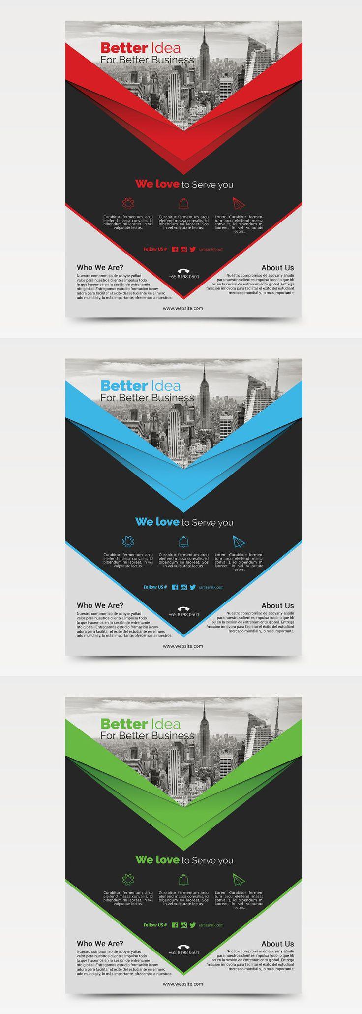 Business Flyer Template AI, EPS, PSD