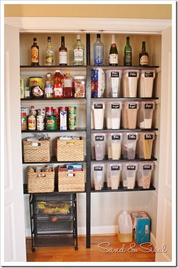 Mirabelle Creations: {Home} -- Kitchen Pantry Organization Ideas