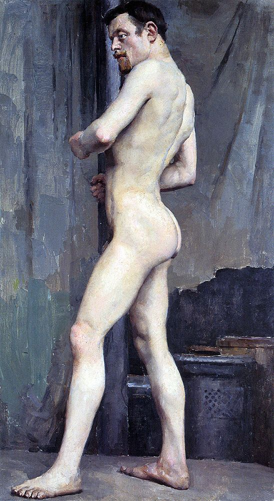 """gallen kallela akseli  male nude 1880 (from <a href=""""http://www.oldpainters.org/picture.php?/25523/category/10362""""></a>)"""