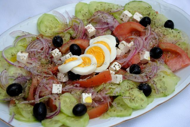 Ensalada rústica griega