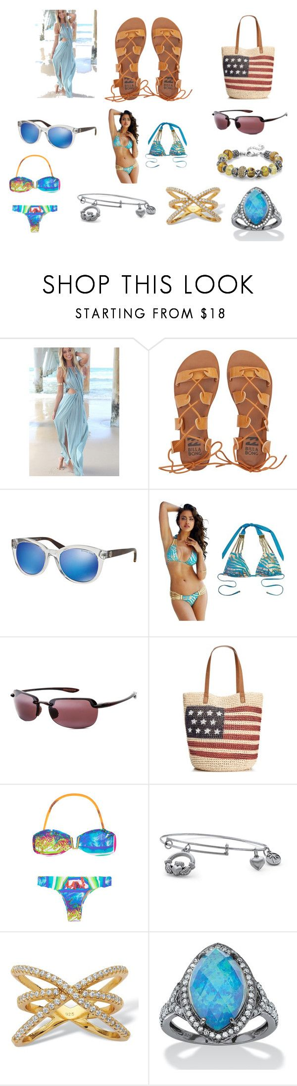 Lucy Luco - Beach Style by exkniha on Polyvore featuring Beach Bunny, Billabong, Style & Co., Palm Beach Jewelry, Maui Jim, Michael Kors, women's clothing, women's fashion, women and female