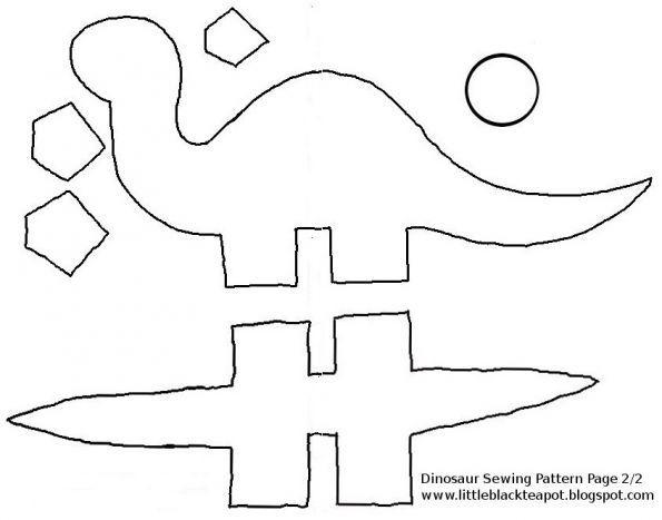 Динозавр из ткани - Сайт для мам малышей