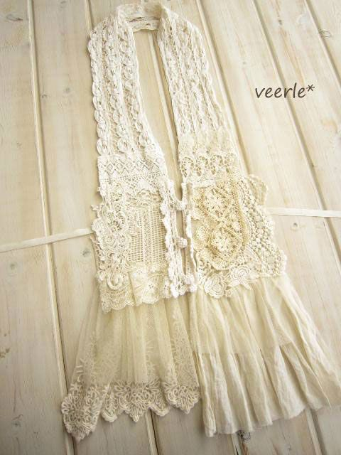 lace scarf with buttons