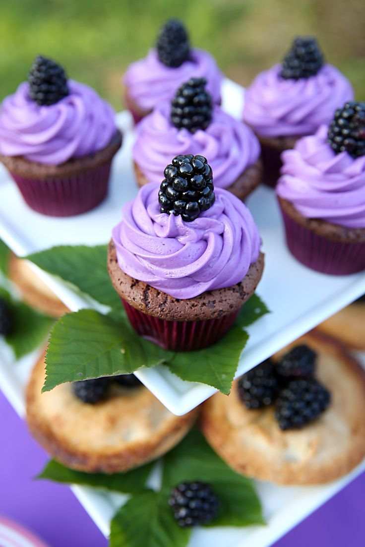 Blackberry Cupcakes + Mini Pies