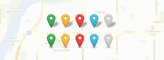Today's freebie is a set of Map Marker Icons. This set comes complete with 5 colors and 2 different shadow styles.