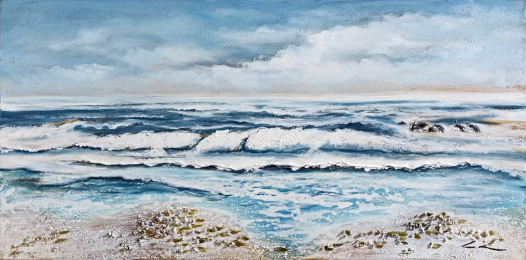 Dipinto art. z211 60x120 - Original paintings, Sea & sun, Art and images - Bubola & Naibo