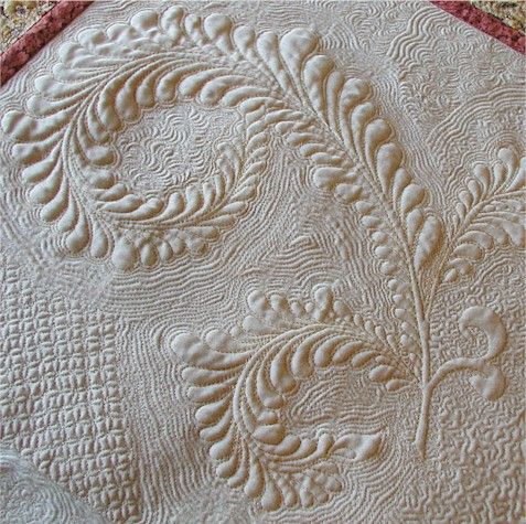 Incredibly beautiful free-hand feather work from the talent at Ivory Spring!  She shares tips on doing this at her website.: Motion Quilts, Longarm Quilts, Feathers Quilts, Ivory Spring, Machine Quilts, Great Tips, Sewing Machine, Quilts Ideas, Quilts Tutorials