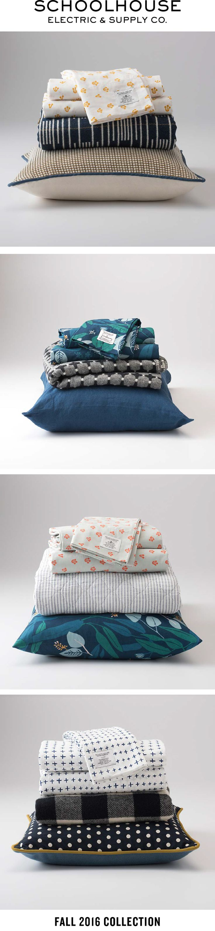 Mix & match bedding, throws and pillows | Shop the new collection by Schoolhouse Electric