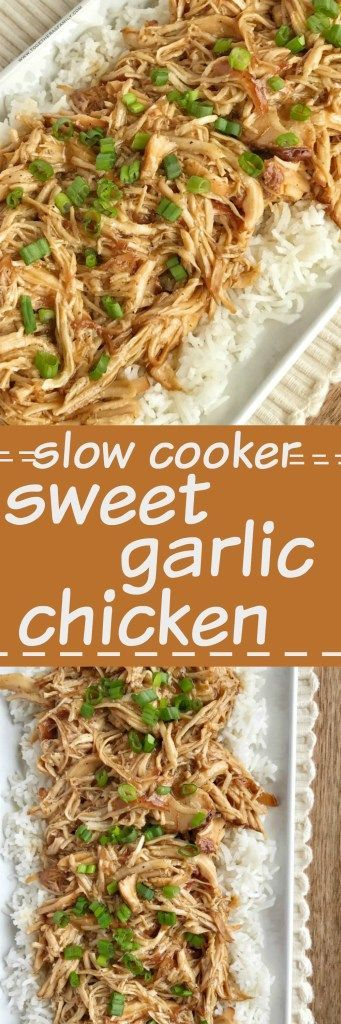 Slow cooker sweet garlic chicken is an easy