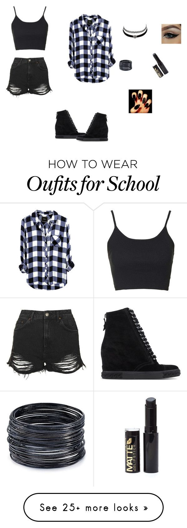 """""""can be my school outfit"""" by fast-trek-fashion9 on Polyvore featuring Topshop, Casadei, Charlotte Russe and ABS by Allen Schwartz"""