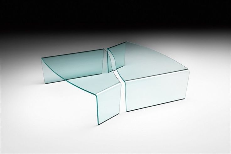 GlazenDesignTafel.nl | Glazen salontafel Virgola | FIAM | Italian design | Glass table by Paolo Rizzatto | vidre glastoepassingen, Leiden