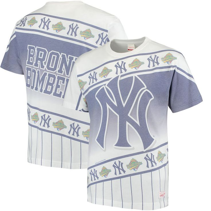New York Yankees Mitchell & Ness Wild Pitch T-Shirt - White/Navy
