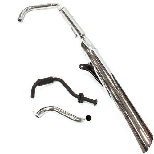250cc Motorbike Chrome Exhaust System for Jinlun Spartan JL250V - http://www.biketrade.co.uk/?product=250cc-motorcycle-chrome-exhaust-system-for-jinlun-spartan-jl250v