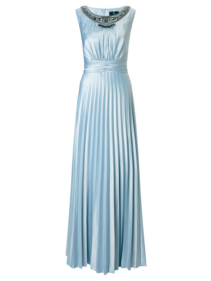 Jane norman pleat bodice maxi dress blue