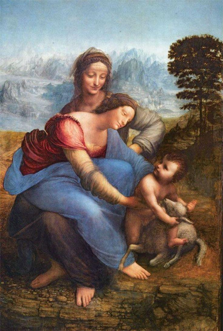 La Vierge à l'Enfant avec sainte Anne, par Léonard de Vinci