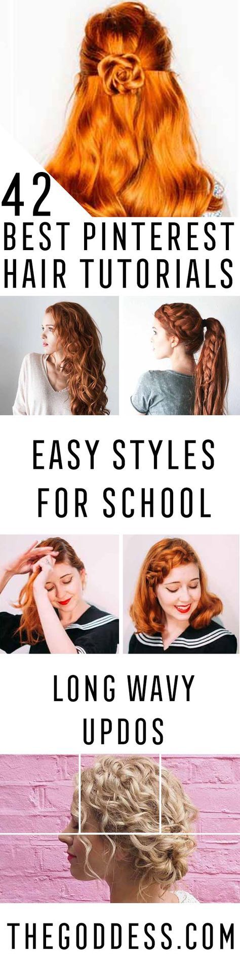 Best Pinterest Hair Tutorials - Check Out These Super Cute And Super Simple Hairstyles From The Best Pinterest Hair Tutorials Including Styles Like Messy Buns And Half Up Half Down Hairdos. Dutch Braids Are Super Hot Right Now Too. These Are The Best Hairstyle Tutorials Ideas On Pinterest Right Now. Easy Hair Up And Hair Down Ideas For Short Hair, Long Hair, and Medium Length Hair. Hair Tutorials For Braids, For Curls, And Step By Step Tutorials For Prom, A Wedding, Or Homecoming And Back To…