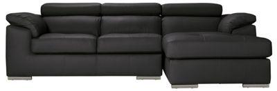 Buy Hygena Valencia Leather Right Hand Corner Sofa Group - Black at Argos.co.uk, visit Argos.co.uk to shop online for Sofas