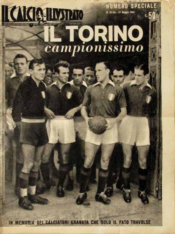 Il Torino Campionissimo-Source-Il Calcio Illustrato, May 1949-Numero Speciale. Special issue in memory of the players who perished in the Superga air disaster