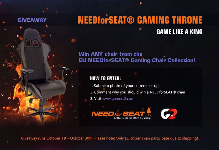 G2.Kinguin and NEEDforSEAT have joined forces for another amazing contest. Enter now and you can win one NEEDforSEAT Gaming Chair of your choosing. #gaming #giveaway