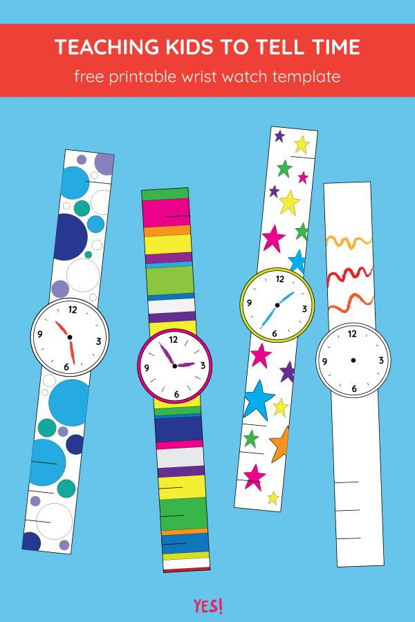 Printable Paper Watch Template For Kids Paper Watch Paper