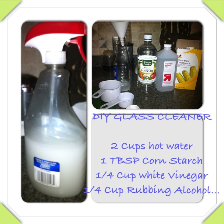 The best diy glass cleaner ever 2 cups hot water 1 tbsp for 1 4 cup table spoon