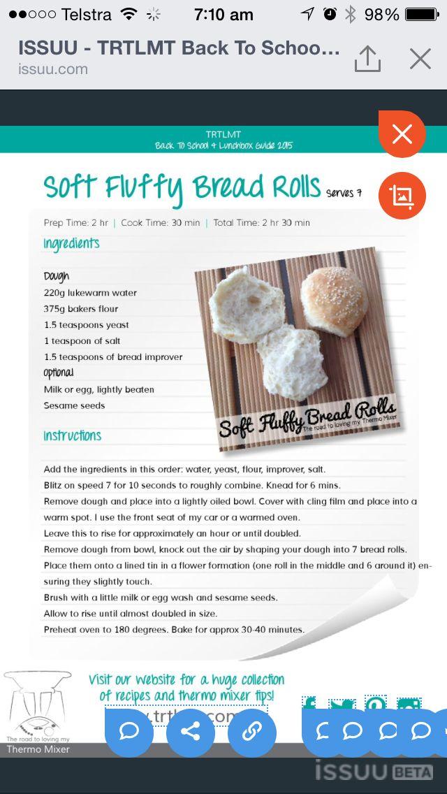 Aft fluffy bread rolls