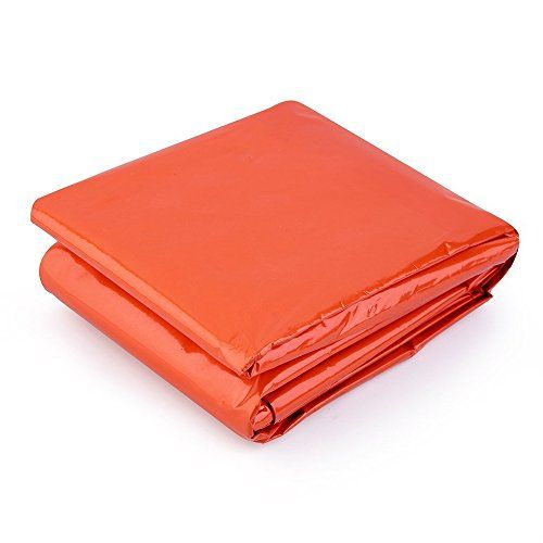 Emergency Survival Sleeping Bag, Lightweight Waterproof Thermal Emergency Blanket, Bivy Sack with Portable Drawstring Bag for Outdoor Adventure, Camping, Hiking, Orange. For product & price info go to:  https://all4hiking.com/products/emergency-survival-sleeping-bag-lightweight-waterproof-thermal-emergency-blanket-bivy-sack-with-portable-drawstring-bag-for-outdoor-adventure-camping-hiking-orange/
