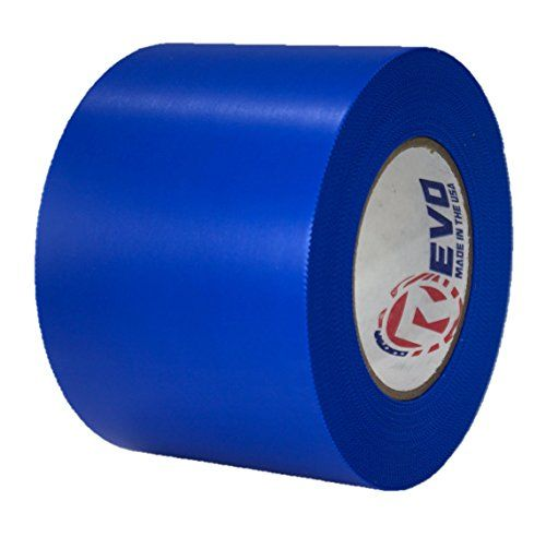 """REVO Preservation Tape / Heat Shrink Wrap Tape (4"""" x 60 yards) MADE IN USA (BLUE) Poly Tape - Electrical Tape - Boat Winterizing Tape (PINKED EDGE) SINGLE ROLL (HEAVY DUTY: 9 MIL THICKNESS):   REVO's Shrink/Poly Tape was specially formulated to meet the demanding needs of Shrink Wrapping applications. Heat shrink tape was made for the shrink wrapping industry, however this amazing product has found itself being used in many other industries as well. Go with the tape that is REVOlutioni..."""