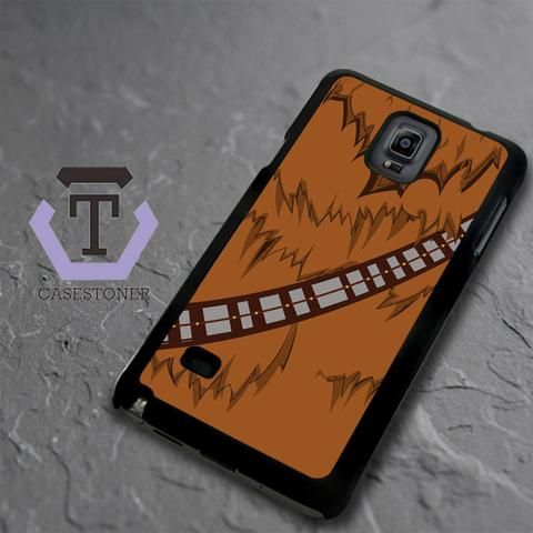 Brown Body Chewbacca Star Wars Samsung Galaxy Note 4 Black Case