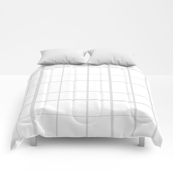 Grid Grey Comforters by Bravely Optimistic   Society6
