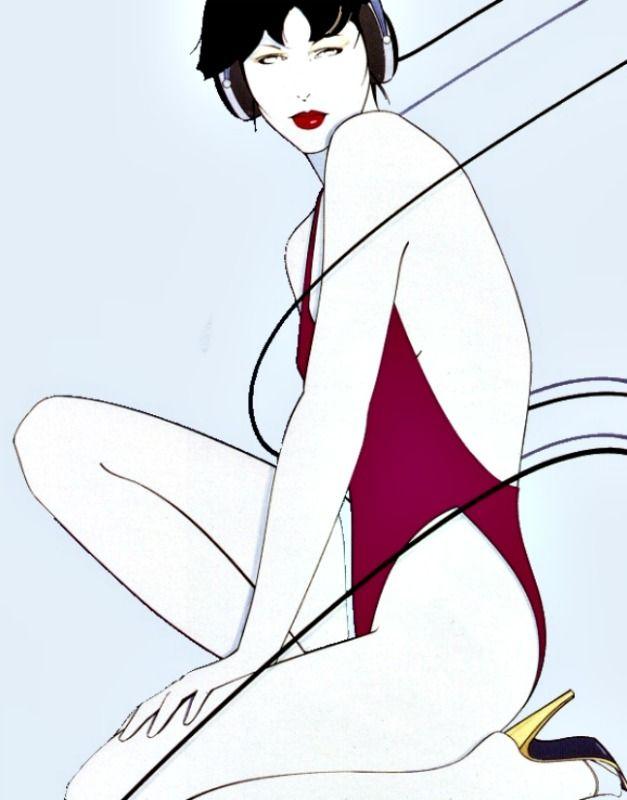 Patrick Nagel—Elegant, stylish simplicity.
