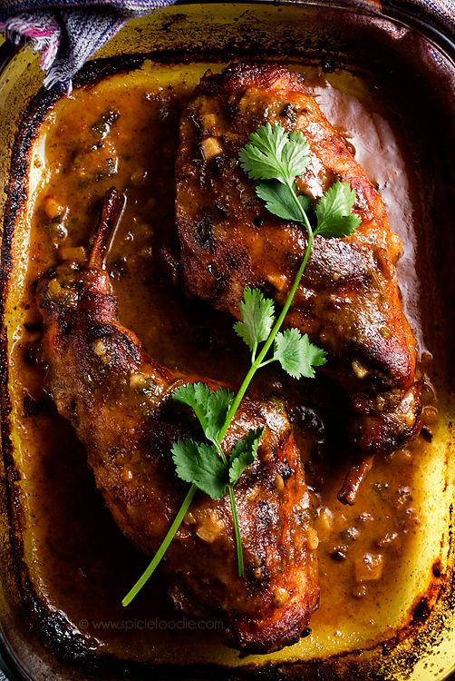 Braised Honey Mustard Rabbit Or Lapin au miel et à la moutard  (with chicken option) by Spicie Foodie