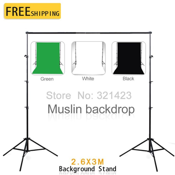 Sale US $102.40  Photography Equipment 2.6*3m Background Support With 3*2m White Black Green Cotton Muslin Backdrops  for Photo Studio  Get here: DVR