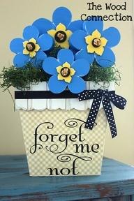 Forget me not flower pot, SUPER SATURDAY IDEA