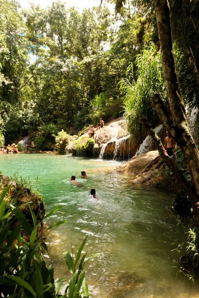 a little free wild swimming and an amazingly beautiful experience El Nicho...30mins extra drive to stop at on the way to Trinidad from Havana
