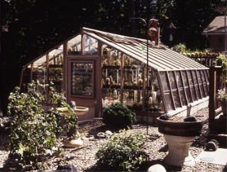 This pit type greenhouse houses a large collection of cacti which must be kept warm