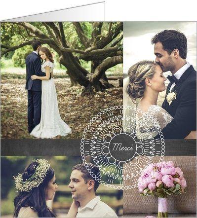 carte de remerciement mariage dentelle disponible en 4 formats et personnaliser sur popcarte - Carte De Remerciement Mariage Pas Cher