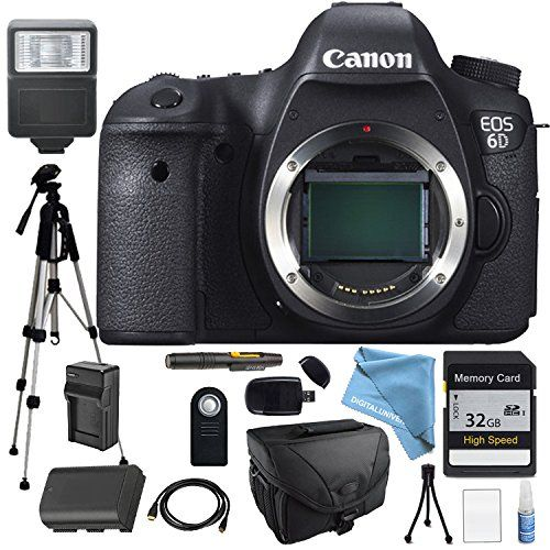 introducing canon eos 6d body only platinum package for professional photography flash full size pro tripod