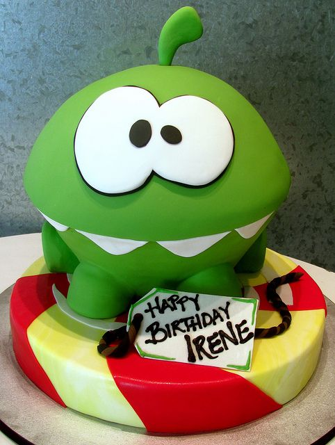 Om Nom Cake. Shame you're too old for a cake like this now @Chris Cote Cote Cote Cote Cote Hatton