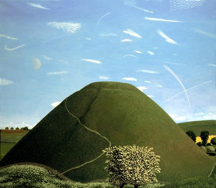 """Silbury Hill in May"", David Inshaw. www.davidinshaw.net"